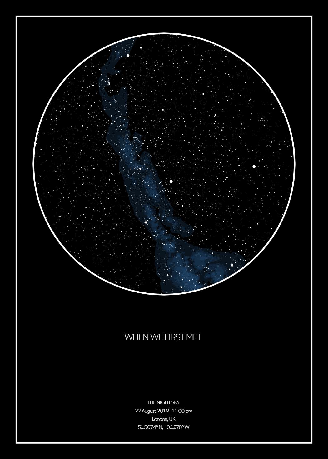 Night Sky Moment   Personalisierte Sternenkarte   Sternenhimmel Poster
